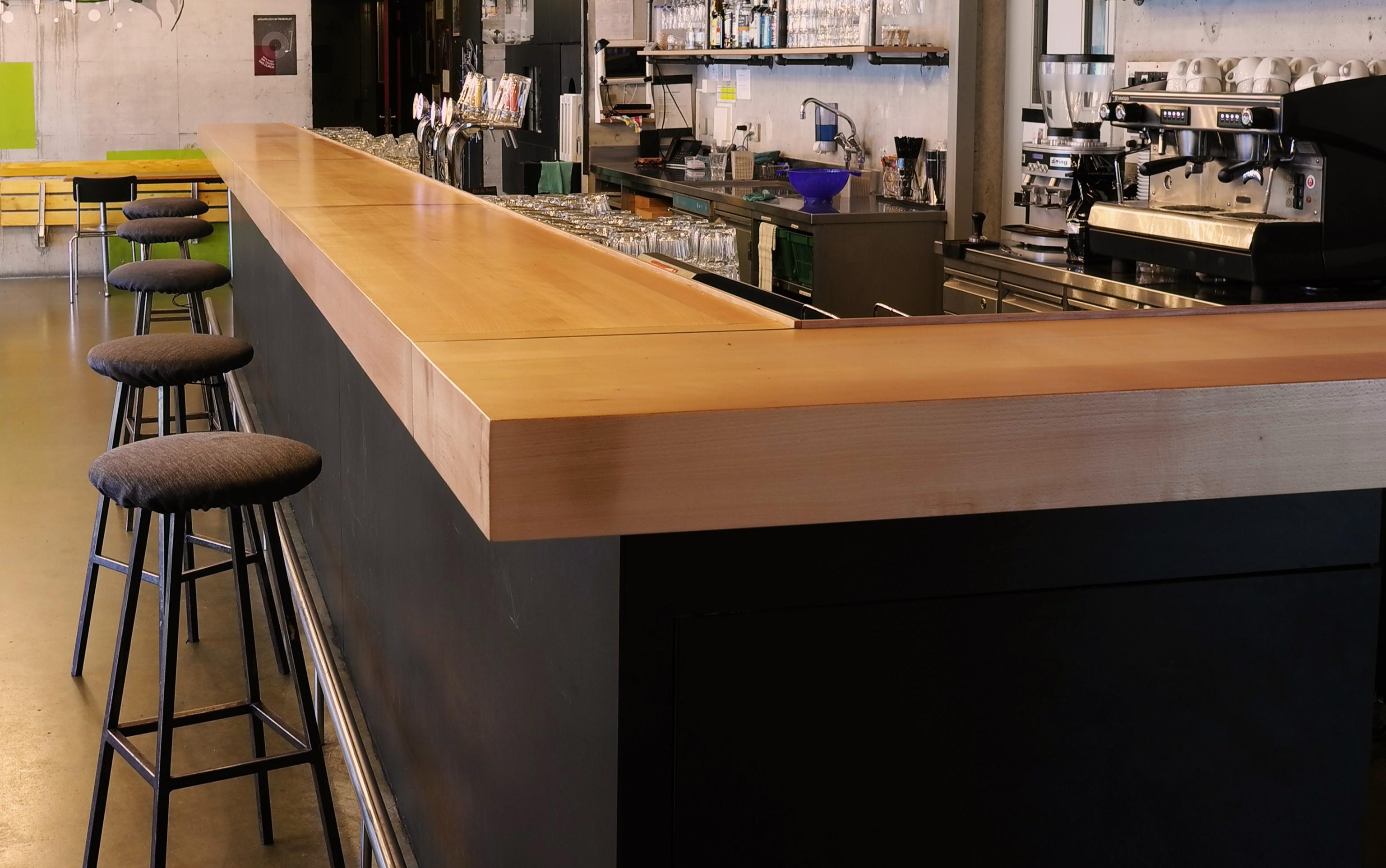 bar, theke, massivholzbar